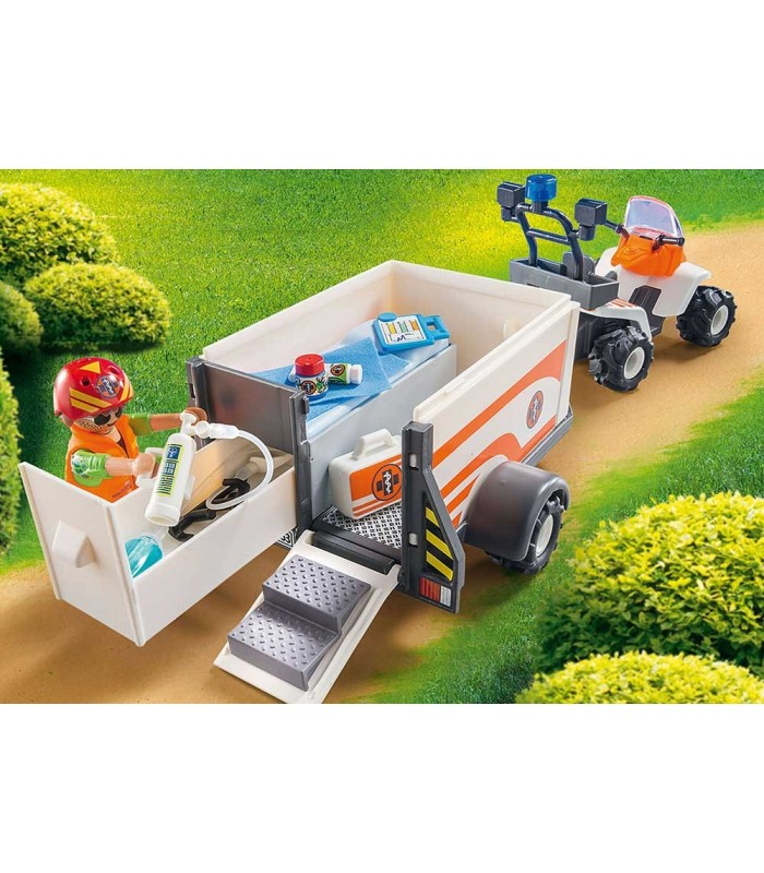 Playmobil 70053 Quad de Rescate con Remolque detalle