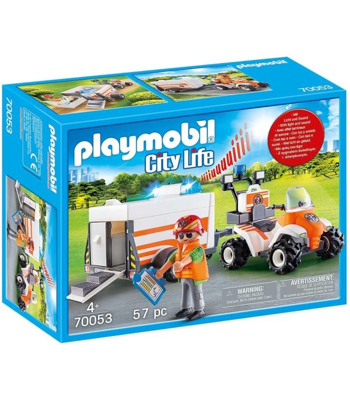 Playmobil 70053 Quad de Rescate con Remolque box