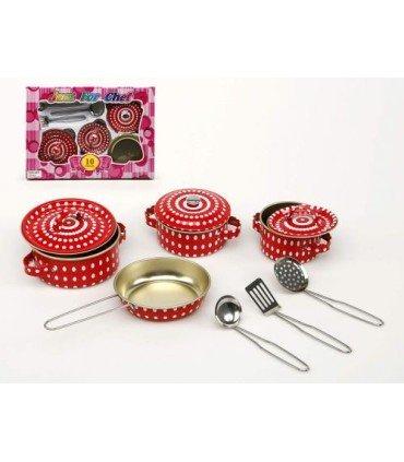 Set cocina metal lunares