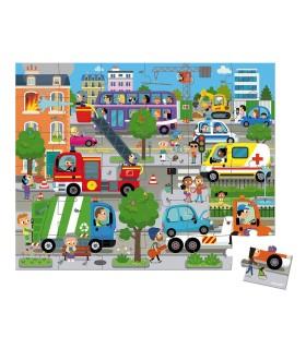 Janod Puzzle Ciudad 36 piezas