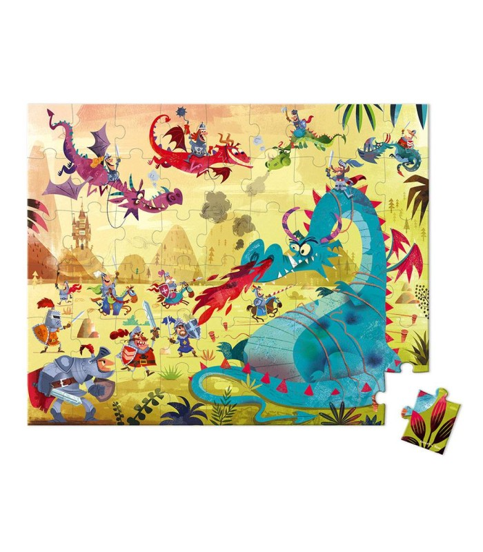Puzzle Dragones Janod 54 Piezas detalle