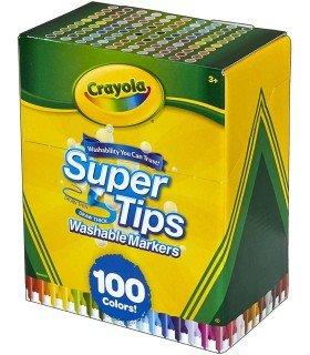 Rotuladores Lavables Crayola 100 Colores caja