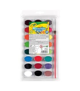 Acuarelas Lavables Crayola 24 Colores