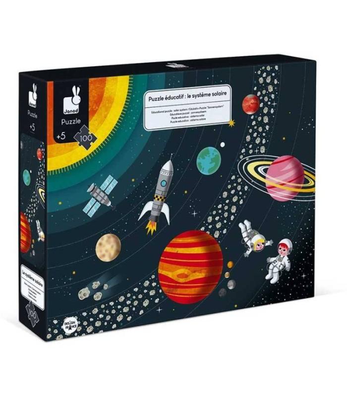 Puzzle El Sistema Solar Janod 100 Piezas caja