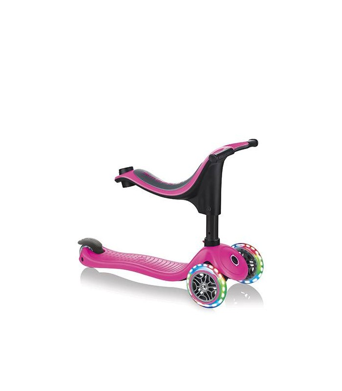 Patinete Globber Go Up 4 en 1 Lights Rosa