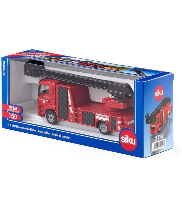 Camión de Bomberos MAN con Escalera Giratoria Siku 2114
