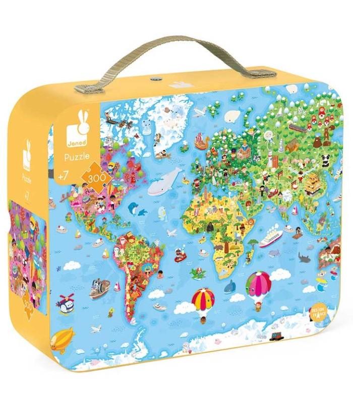 Puzzle Mapa del Mundo 300 Piezas box