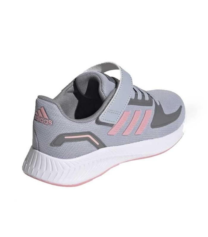 Adidas Runfalcon 2.0 C Gris Plata y Rosa