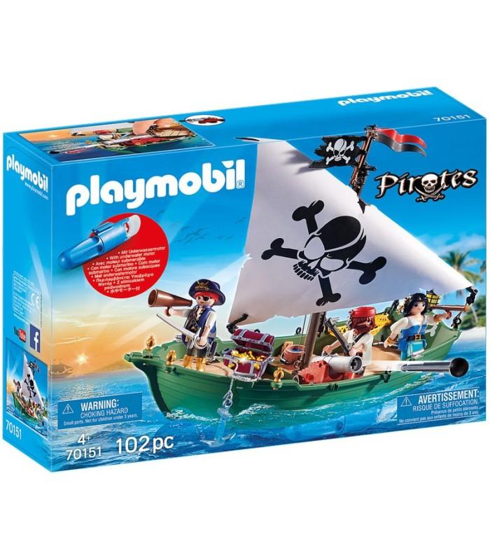 Barco Pirata con Motor Submarino Playmobil 70151