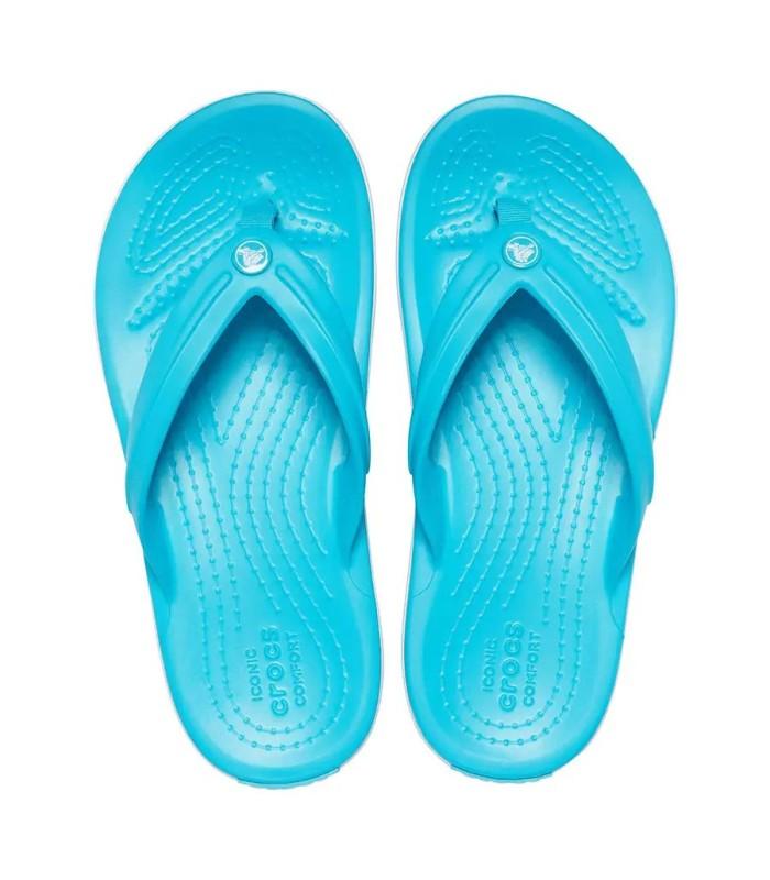 Chanclas Crocs Crocband Flip Digital Aqua