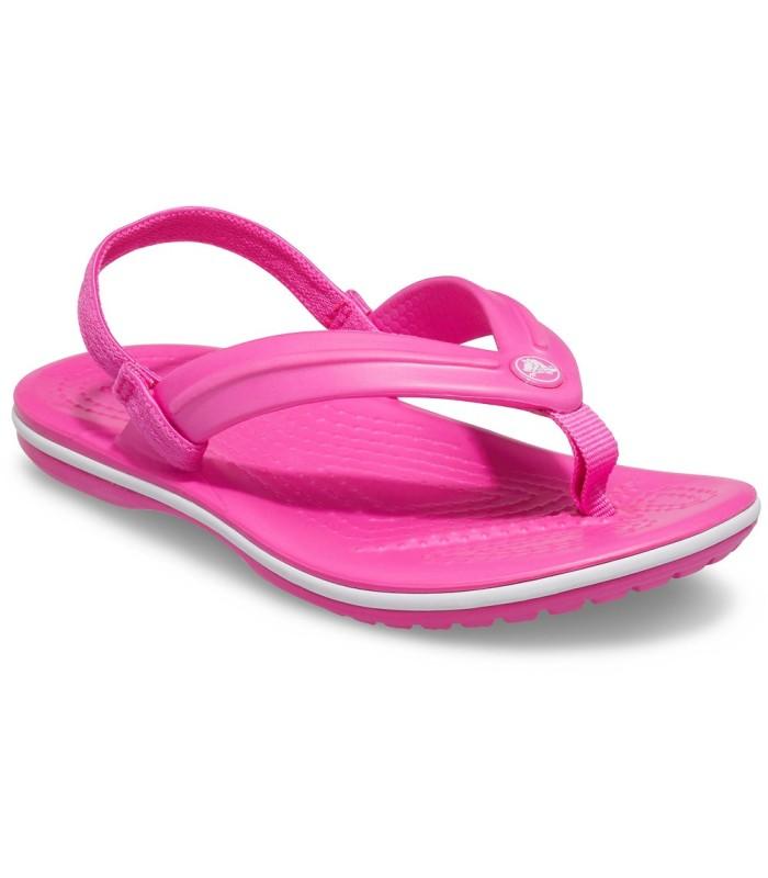 Chancla Crocs Crocband Strap Flip Electric Pink