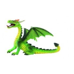 Dragón verde sentado